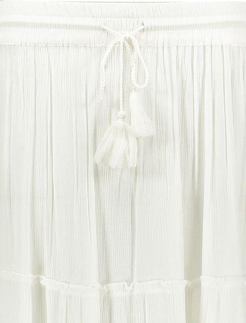 دامن ویسکوز بلند زنانه - سفيد - 4
