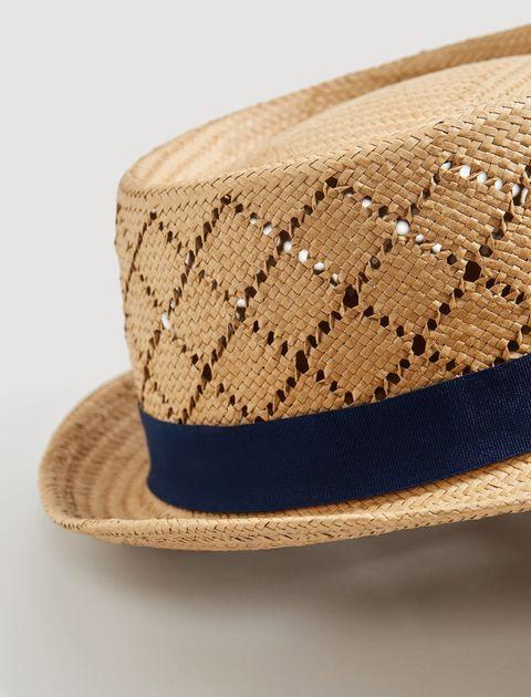 کلاه حصیری مردانه - سرمه اي - 3