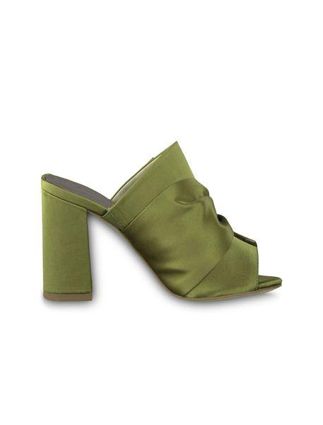کفش پاشنه بلند پارچه ای زنانه Heiti - سبز - 1