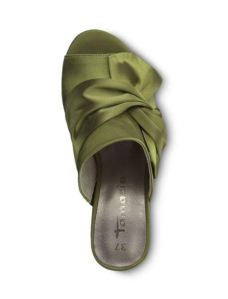 کفش پاشنه بلند پارچه ای زنانه Heiti - سبز - 2