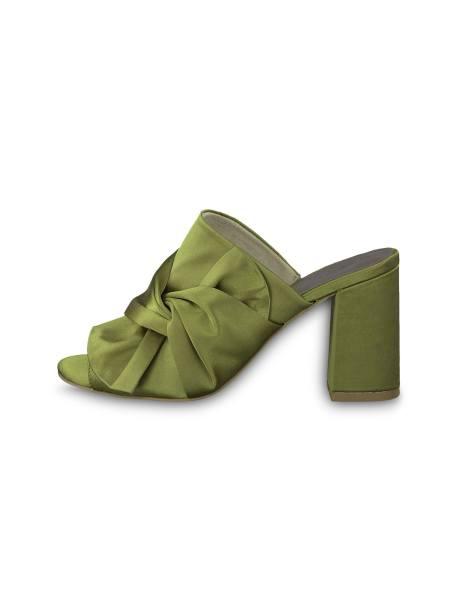 کفش پاشنه بلند پارچه ای زنانه Heiti - سبز - 3