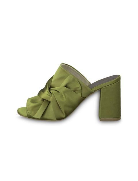کفش پاشنه بلند پارچه ای زنانه Heiti - تاماریس - سبز - 3