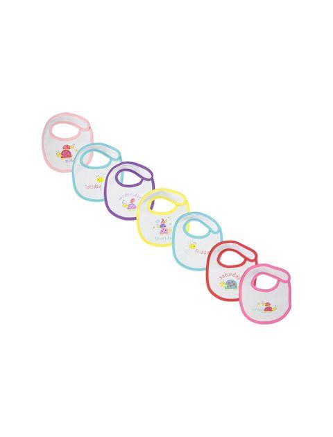 پیش بند نخی نوزادی بسته 7 عددی - ارکسترا - سفيد - 1