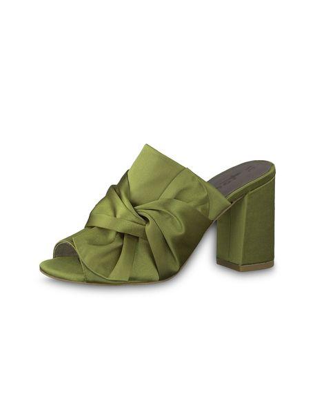 کفش پاشنه بلند پارچه ای زنانه Heiti - سبز - 4