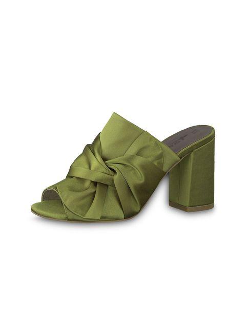 کفش پاشنه بلند پارچه ای زنانه Heiti - تاماریس - سبز - 4
