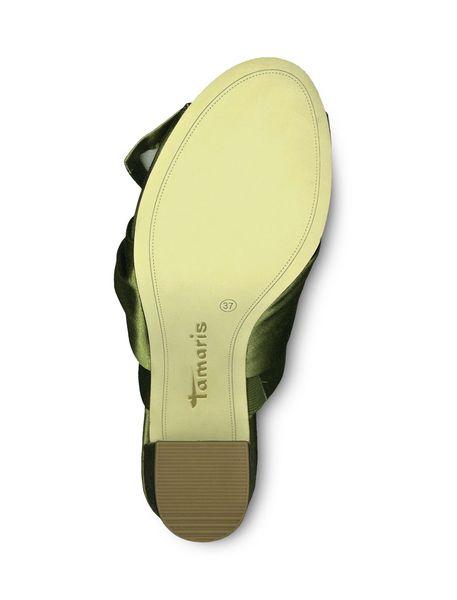 کفش پاشنه بلند پارچه ای زنانه Heiti - سبز - 5