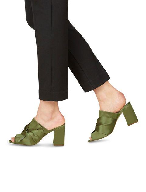 کفش پاشنه بلند پارچه ای زنانه Heiti - تاماریس - سبز - 6