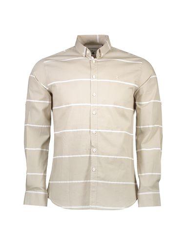 پیراهن نخی یقه برگردان مردانه