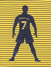 تاپ و شلوارک نخی پسرانه Ronaldo - زرد/سرمه اي - 4