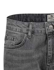 شلوار جین جذب مردانه - طوسي - 4