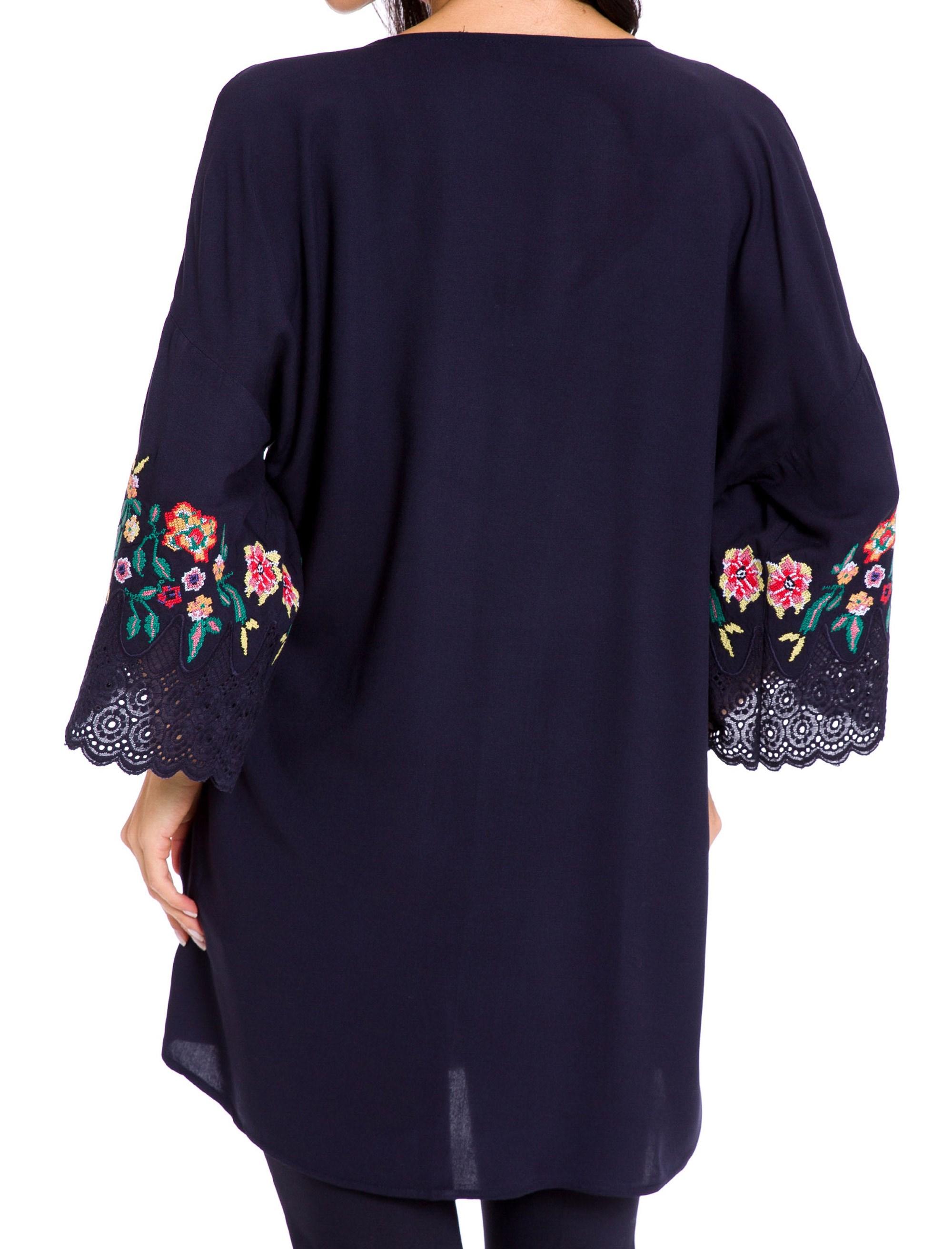 رویه لباس ویسکوز زنانه - سرمه اي  - 2