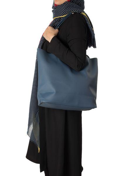 کیف دوشی زنانه - سرمه اي - 6