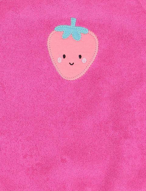 پیش بند نخی نوزادی دخترانه بسته 2 عددی - ارکسترا - سرخابي - 3