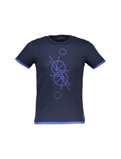 تی شرت نخی یقه گرد مردانه - یوپیم - سرمه اي - 1