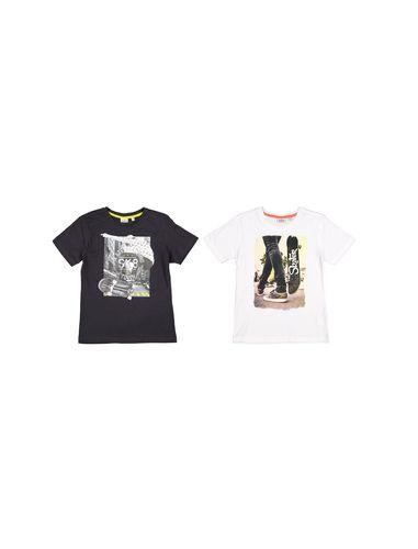 تی شرت نخی یقه گرد پسرانه بسته 2 عدی - بلوکیدز