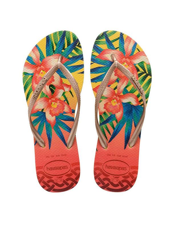 دمپایی لا انگشتی زنانه Slim Tropical - هاواینس