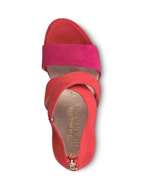 کفش پاشنه بلند زنانه Veronique - نارنجي و سرخابي - 1