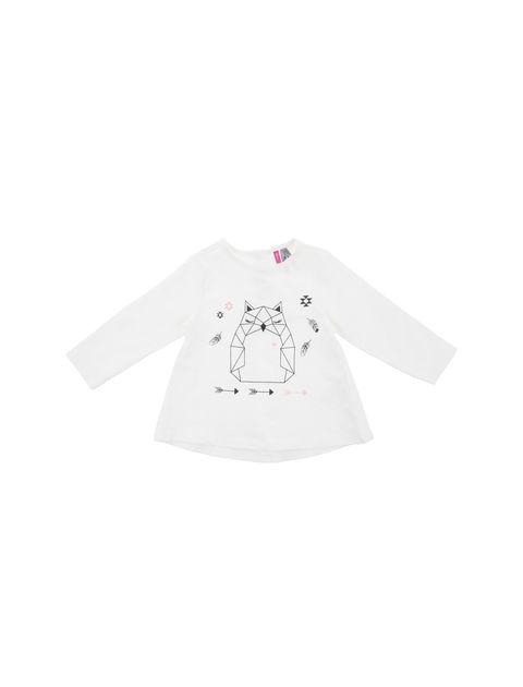 تی شرت نخی نوزادی دخترانه - سفيد - 1