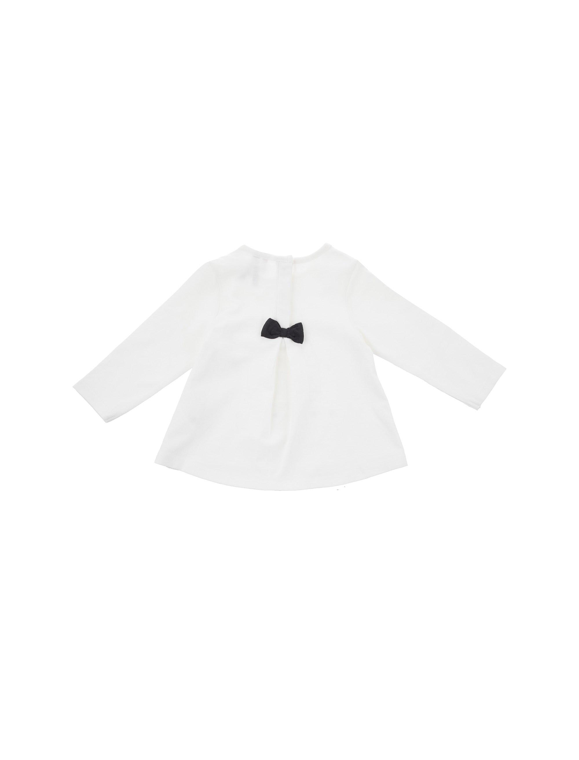 تی شرت نخی نوزادی دخترانه - ارکسترا - سفيد - 2