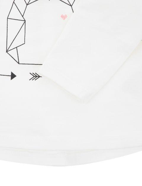 تی شرت نخی نوزادی دخترانه - سفيد - 3