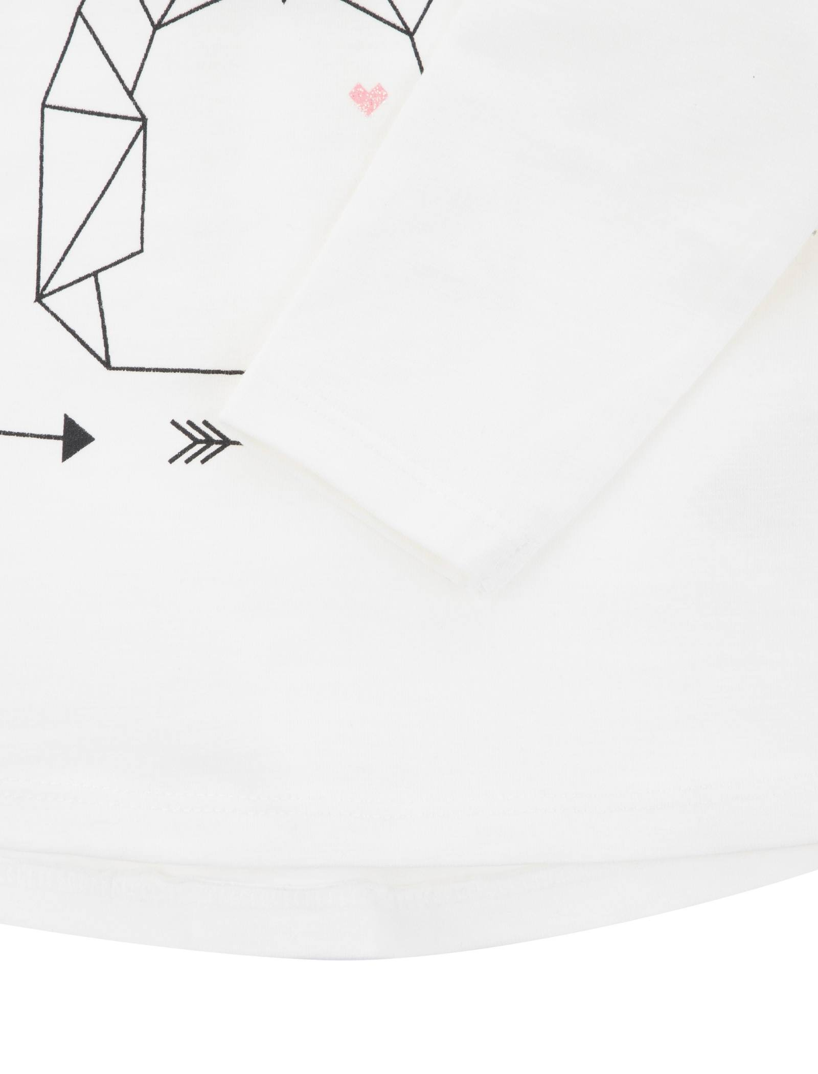 تی شرت نخی نوزادی دخترانه - ارکسترا - سفيد - 3