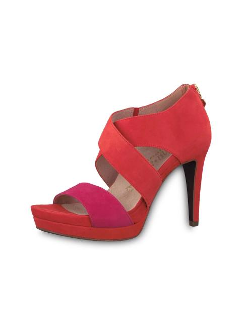 کفش پاشنه بلند زنانه Veronique - نارنجي و سرخابي - 3