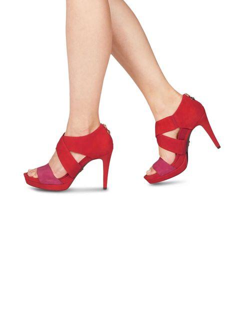 کفش پاشنه بلند زنانه Veronique - نارنجي و سرخابي - 6