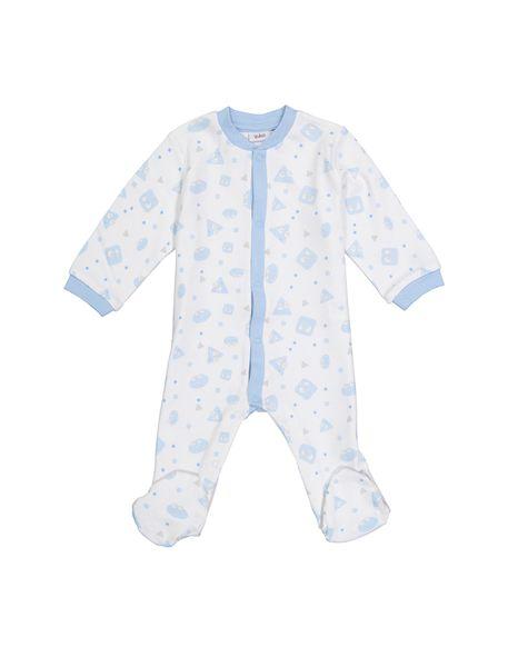 سرهمی نخی طرح دار نوزادی - سفيد - 1