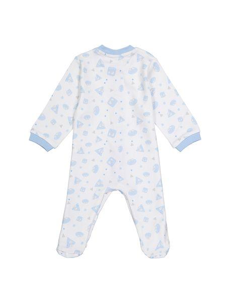 سرهمی نخی طرح دار نوزادی - سفيد - 2