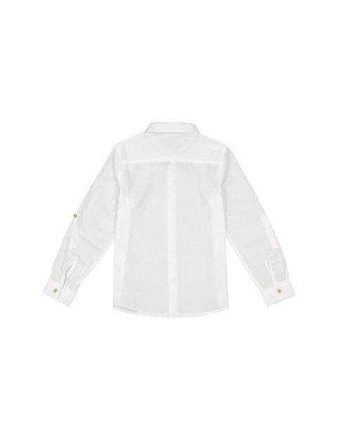 پیراهن نخی آستین بلند پسرانه - کوتون - سفيد - 2