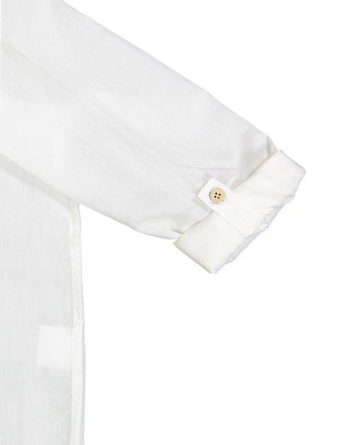 پیراهن نخی آستین بلند پسرانه - سفيد - 4