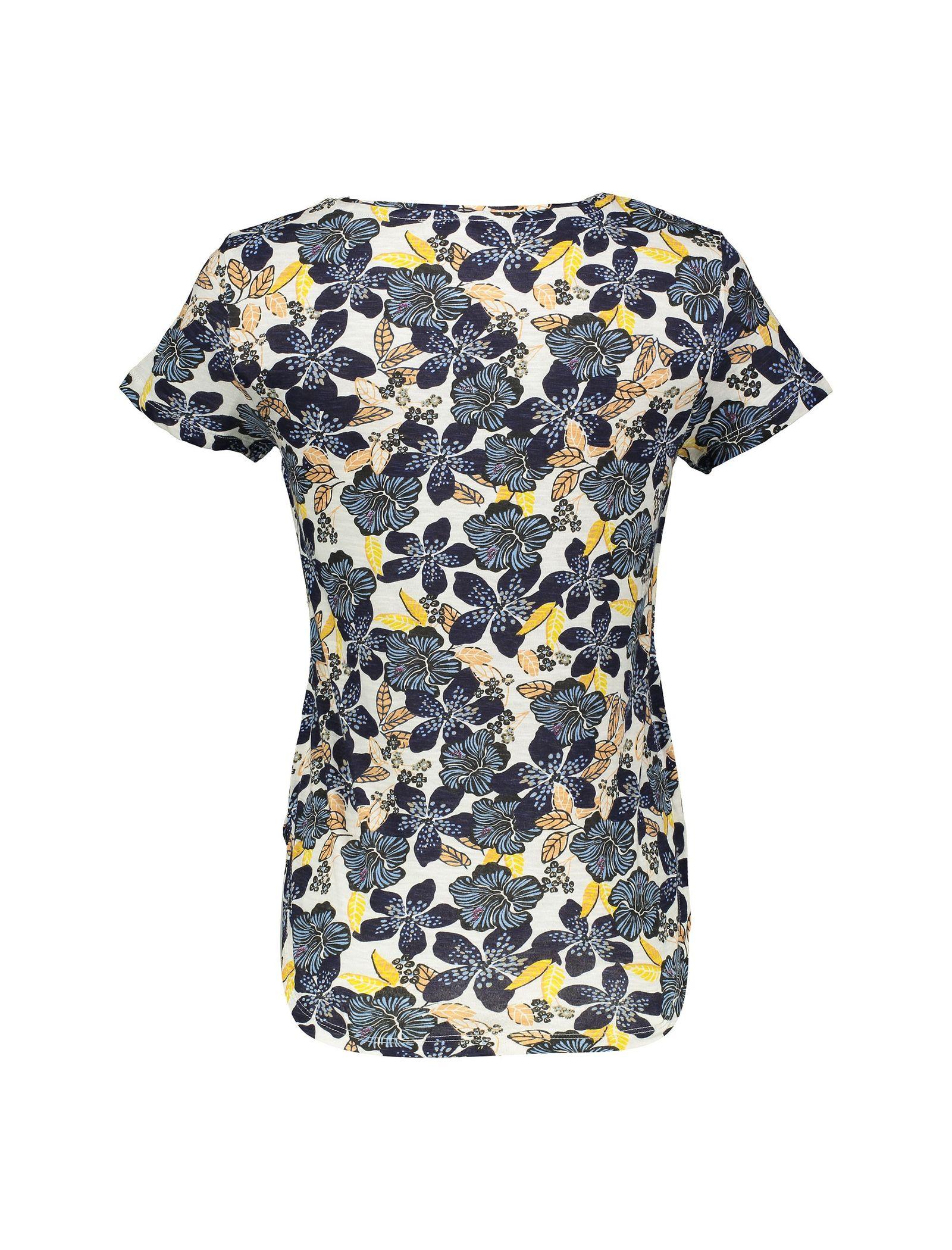 تی شرت نخی یقه گرد زنانه - یوپیم - آبي  - 1
