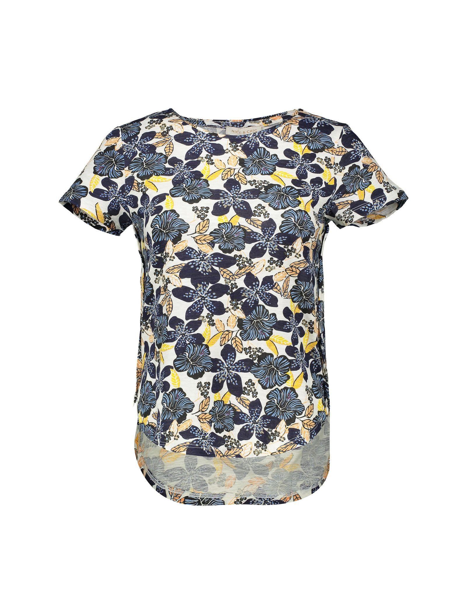 تی شرت نخی یقه گرد زنانه - یوپیم - آبي  - 2