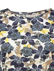 تی شرت نخی یقه گرد زنانه - یوپیم - آبي  - 3