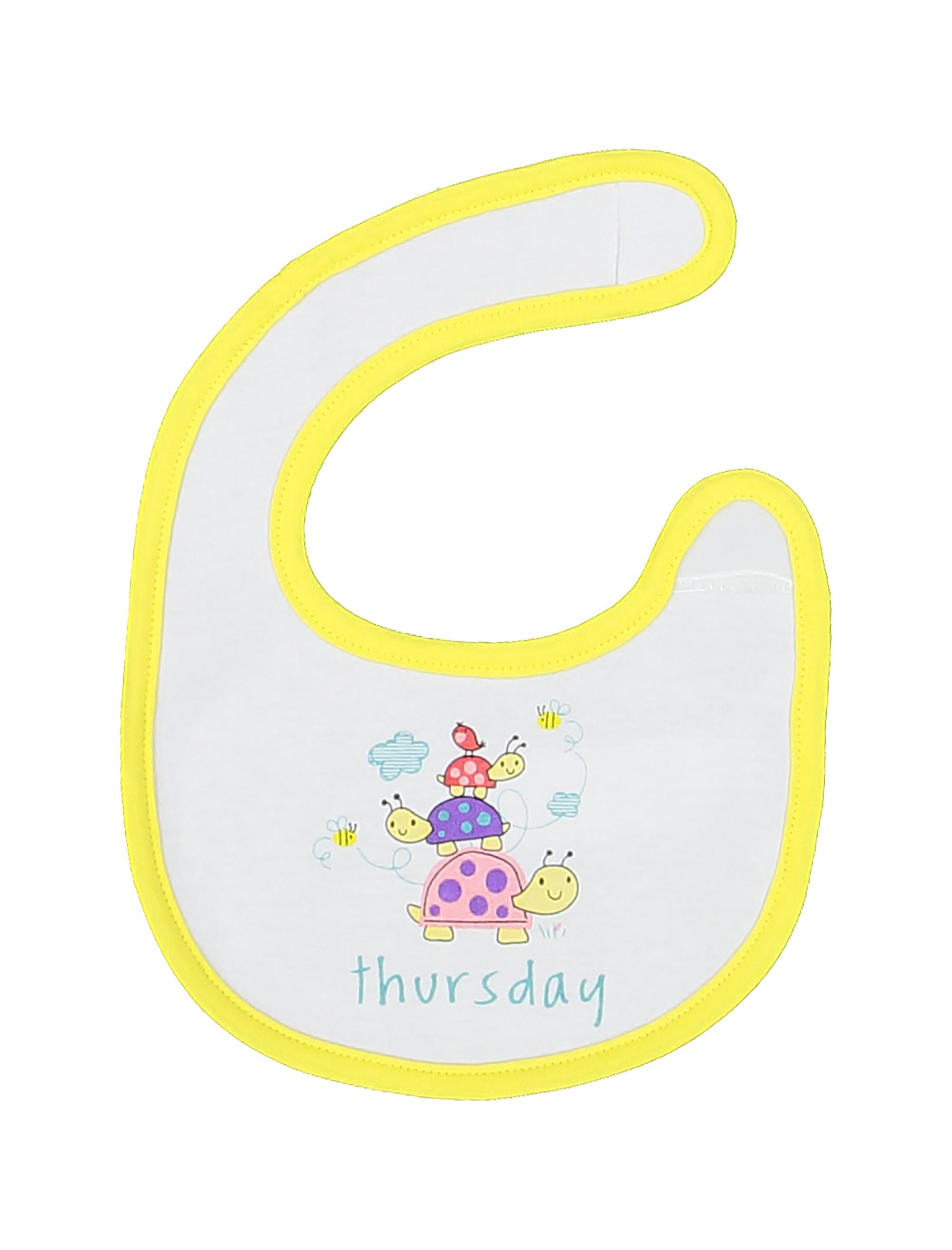 پیش بند نخی نوزادی بسته 7 عددی - ارکسترا - سفيد - 15
