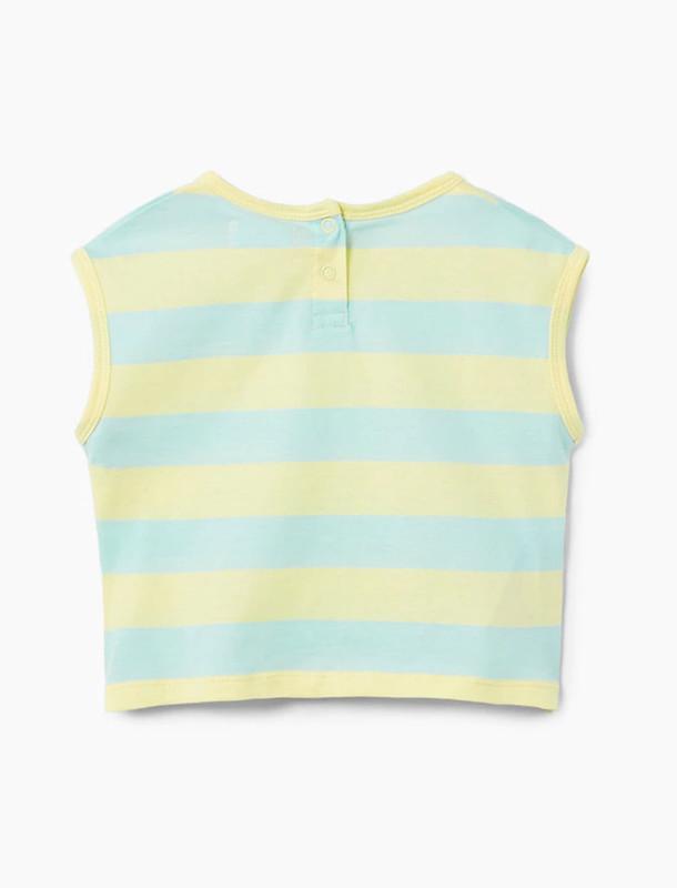 تی شرت نخی یقه گرد دخترانه - مانگو