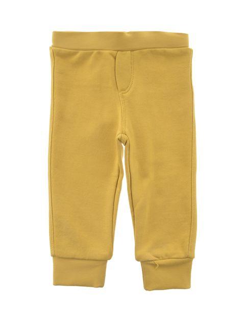 هودی و شلوار نخی نوزادی پسرانه - زرد - 6