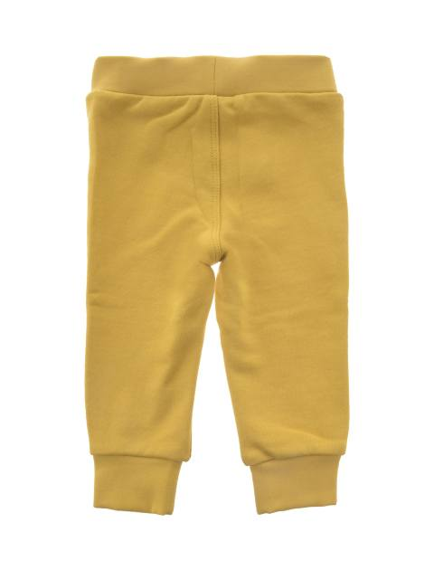 هودی و شلوار نخی نوزادی پسرانه - زرد - 7
