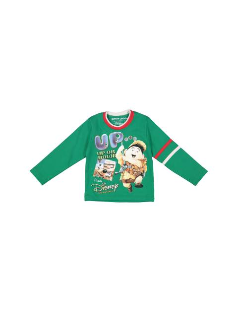 تی شرت نخی یقه گرد پسرانه - سون پون - سبز - 1
