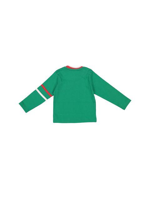 تی شرت نخی یقه گرد پسرانه - سون پون - سبز - 2