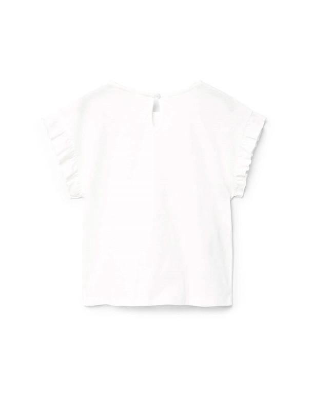 تی شرت نخی آستین کوتاه دخترانه - مانگو