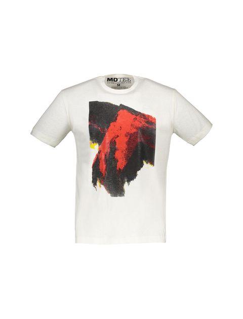 تی شرت یقه گرد مردانه - سفيد - 1