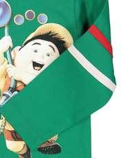 تی شرت نخی یقه گرد پسرانه - سون پون - سبز - 5