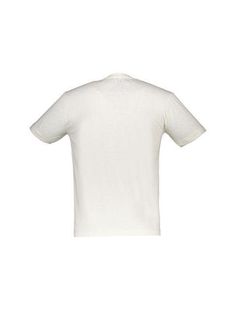 تی شرت یقه گرد مردانه - سفيد - 2