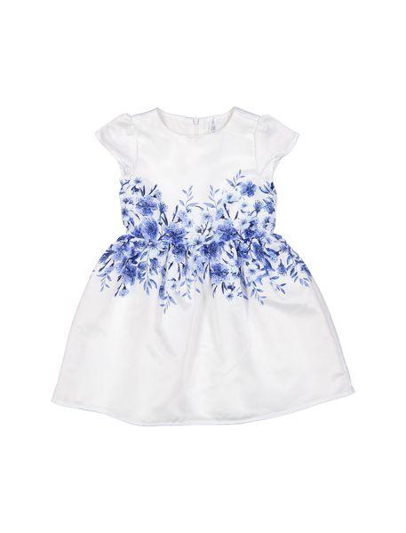 پیراهن مهمانی دخترانه - سفيد و آبي - 1