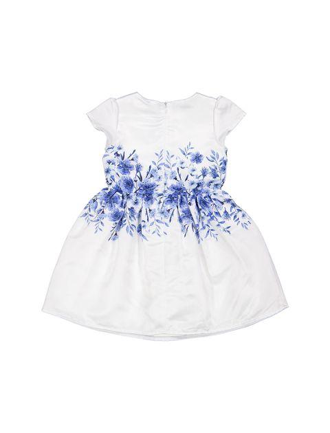 پیراهن مهمانی دخترانه - سفيد و آبي - 2