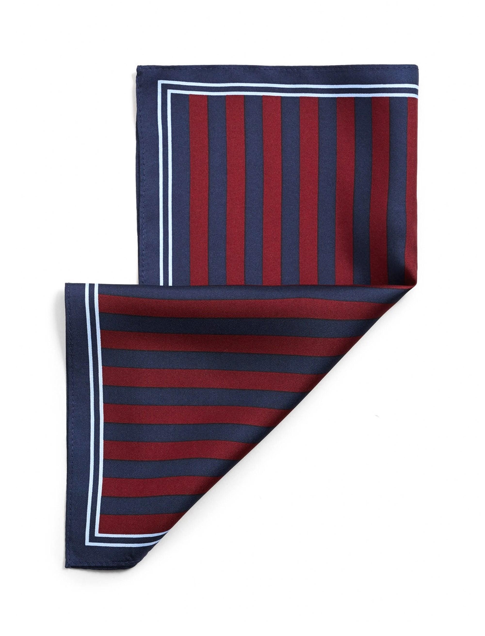 دستمال جیب ابریشم طرح دار مردانه - مانگو