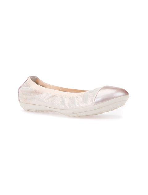 کفش تخت چرم دخترانه JR PIUMA - صورتي روسن - 4