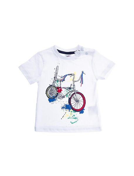 تی شرت و شلوارک راحتی نخی نوزادی پسرانه - سفيد/آبي - 2