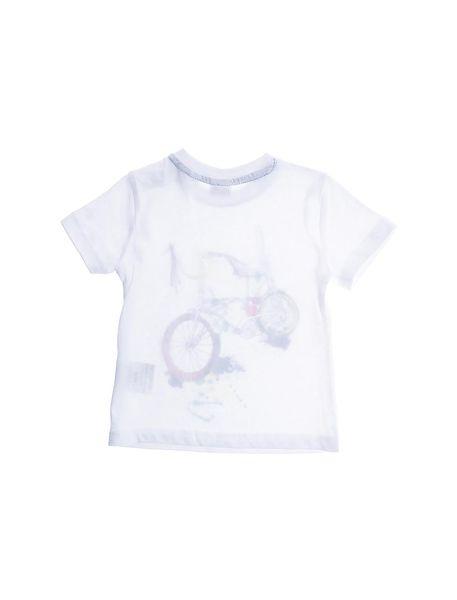 تی شرت و شلوارک راحتی نخی نوزادی پسرانه - سفيد/آبي - 4
